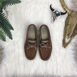 Women's Sperry Top-Sider Brown Leather Boat Shoes